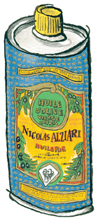 Zingerman's illustration of Alziari olive oil
