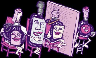 Vinegars on a Dating Show illustration