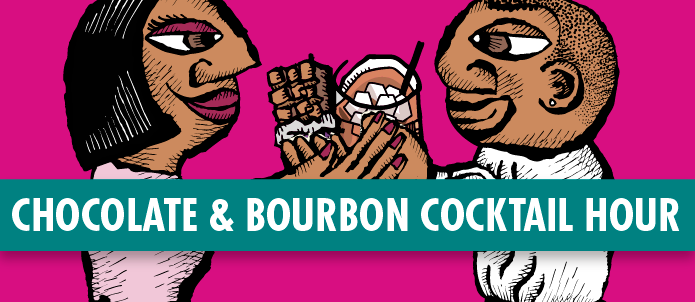 Valentines Day Chocolate & Bourbon Cocktail Hour