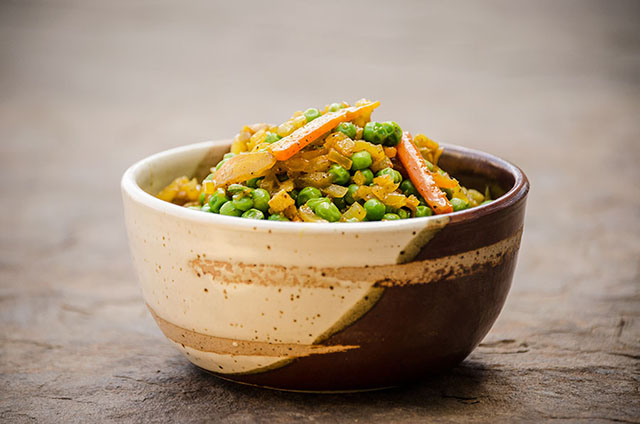 Bowl of Carrots and Peas