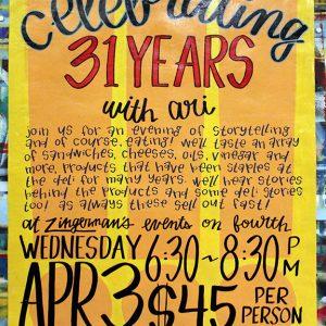 Celebrating31YrsTastingAPR