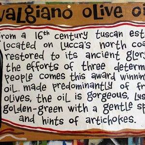 Valgiano Olive Oil Poster