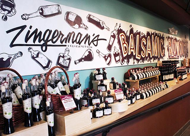 Bottles of balsamic vinegar
