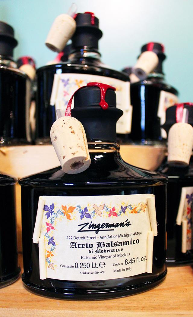 Bottle of balsamic vinegar