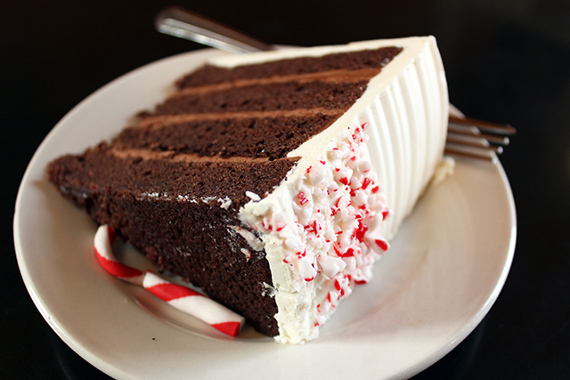 Slice of Merry Mint cake