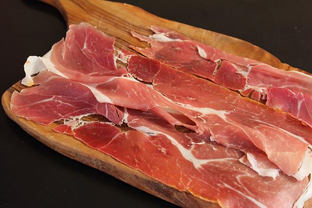 Prosciutto slices