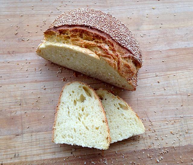 Sesame Semolina Bread Loaf