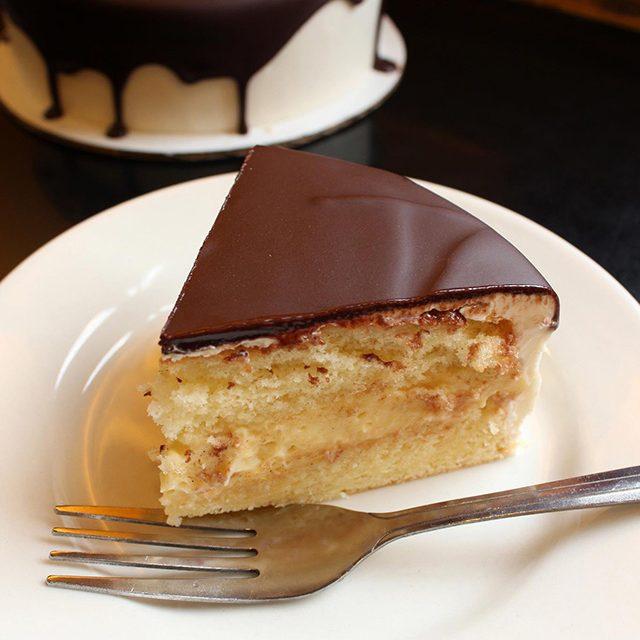 Slice of Boston Cream Pie