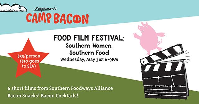 Camp Bacon Food Film Festival Flyer