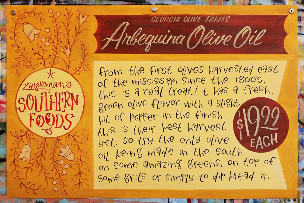 Georgia Olive Farms Arbequina Olive Oil Poster