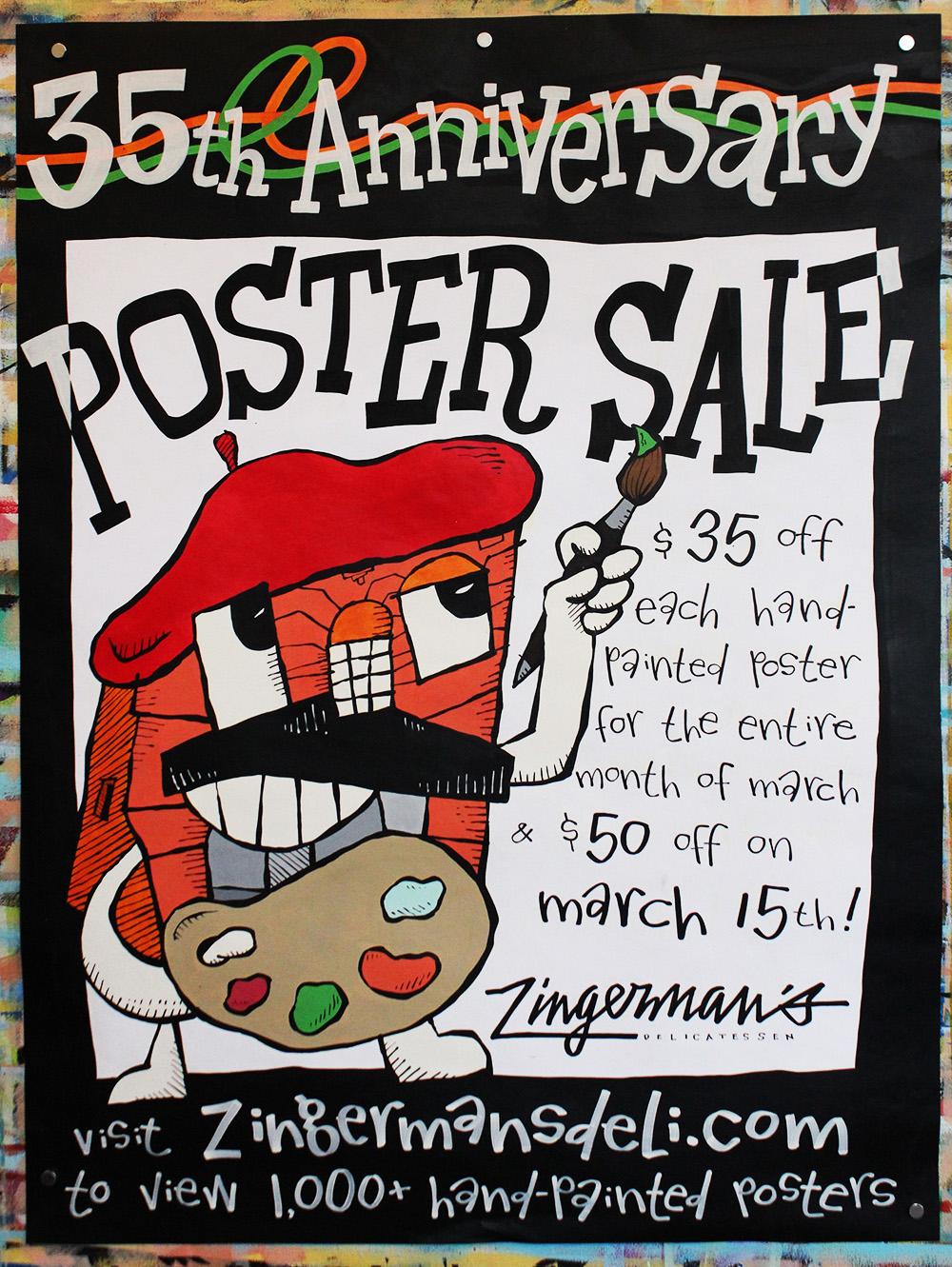 Zingerman S Deli 35th Anniversary Poster Sale 24076 Zingerman S Deli