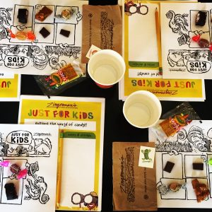 Just for Kids Tastings place setting