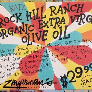 Katz Rock Hill Ranch Organic Extra Virgin Olive Oil Poster