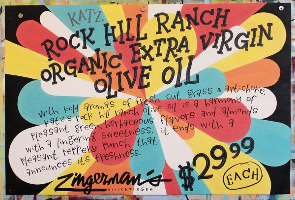 Katz Rock Hill Ranch Organic Extra Virgin Olive Oil Poster