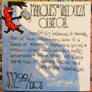 Marques De Valdueza Olive Oil Poster
