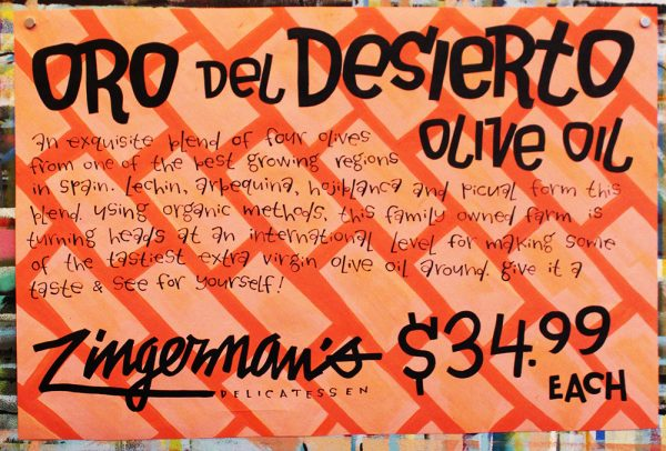 Oro Deli Desierto Olive Oil Poster 2017