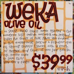 Weka Olive Oil Poster 2017