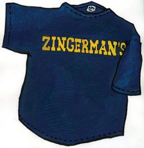 Zingerman's block letter t-shirt