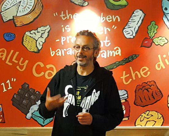 Ari Weinzweig hosting Zingerman's Greatest Hits Event