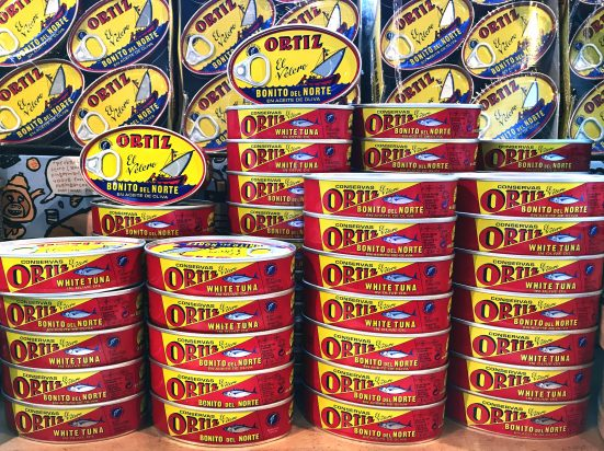Zingerman's display of ortiz tuna!