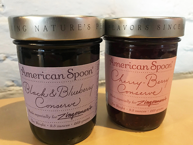 Jars of American Spoon Conserves Made for Zingerman's