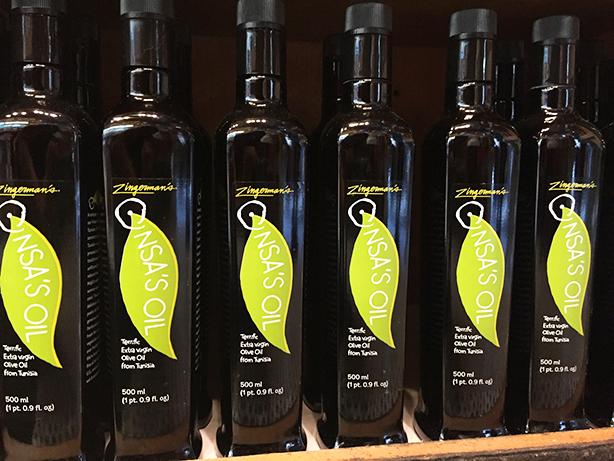 Bottles of Zingerman's Onsa Olive Oil