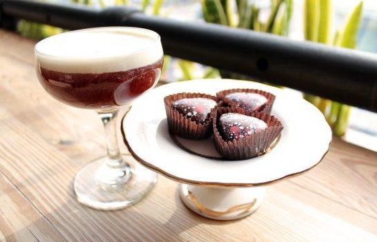 Zingerman's Next Door Café truffles with a cocktail