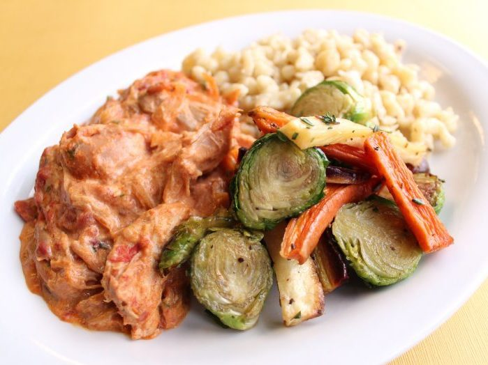 Hungarian Paprikash Plate for Deli Plate of the Month