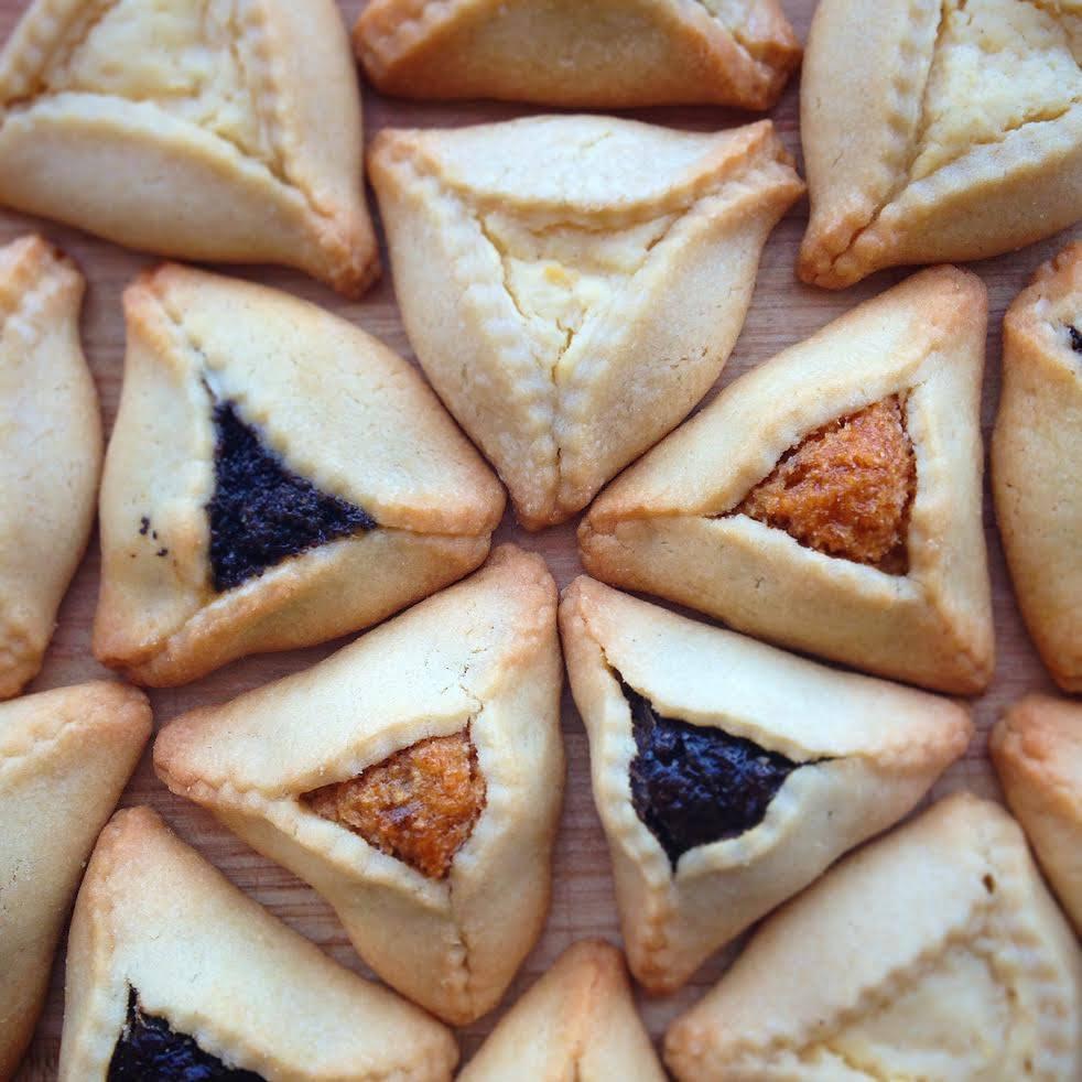 Zingerman's Bakehouse Hamentaschen flavors displayed in a pattern