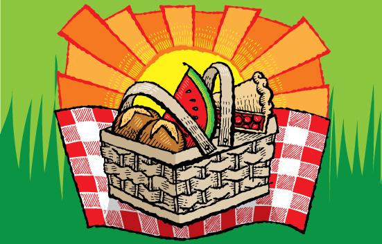 Zingerman's illustration of a picnic basket