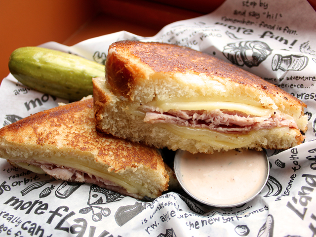 Zingerman's sandwich of the month - TA-DAAN! with a pickle