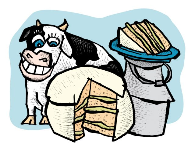 Zingerman's Illustration of Buttermilk Cake and a cow!