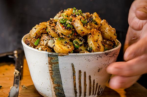 Épices de Cru's stir fried sesame potatoes with Yunnan spices