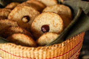 Epices de Cru Hazelnut Orange Clove cookies in a basket