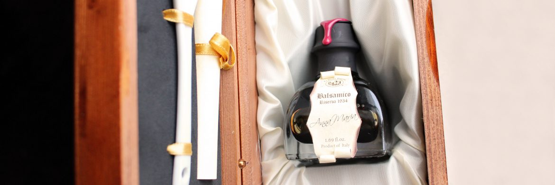 Zingerman's Deli photo of Anna Maria 1934 Traditional Balsamic Vinegar in its wooden box