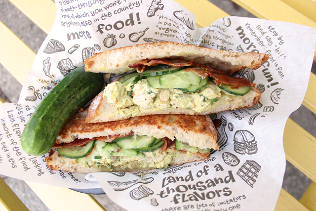 Zingerman's Sandwich of the Month Kelly of The Deli's Curryosity in a basket