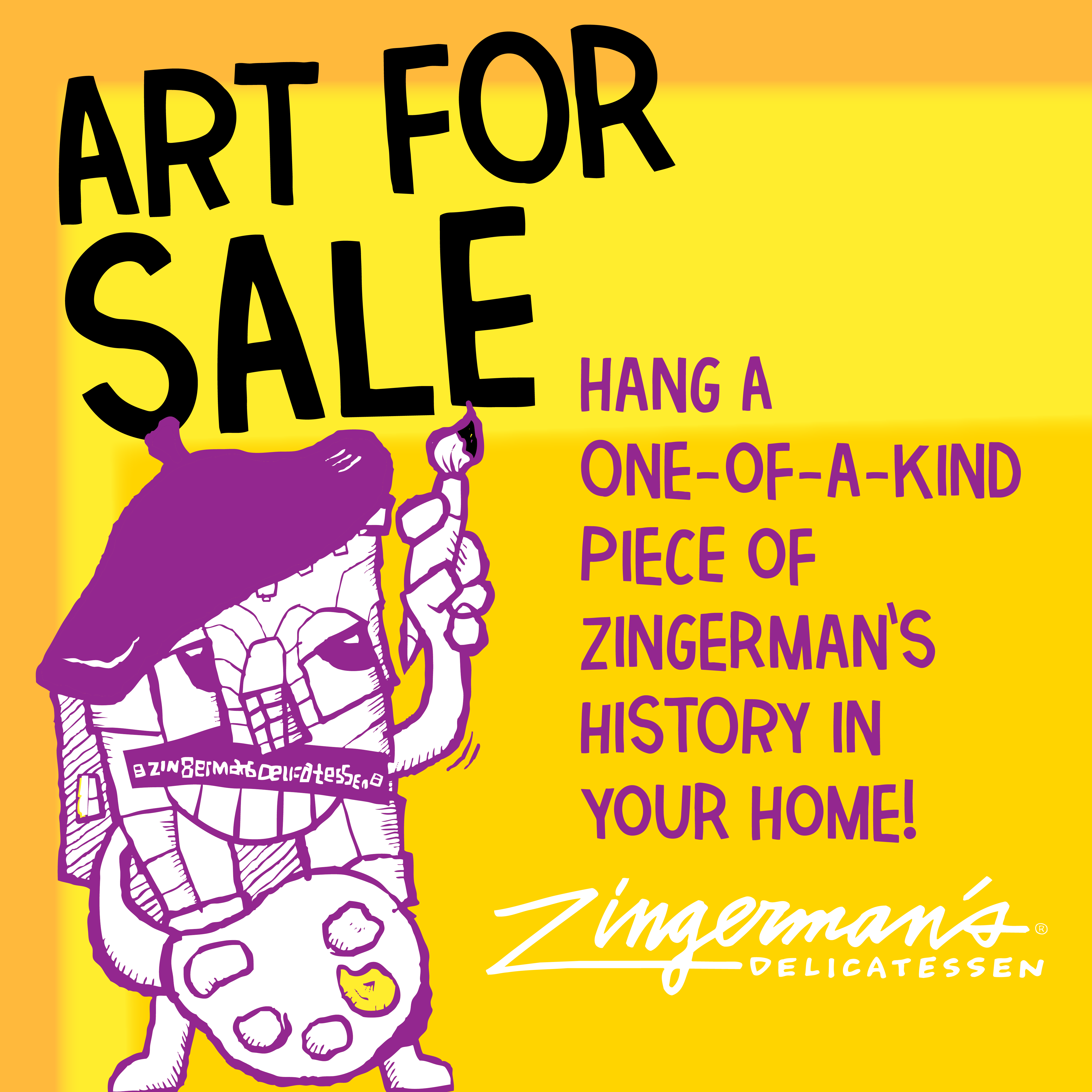 art for sale - hang a one of a kind piece of zingerman's art in your home