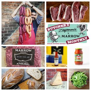 butcher's monthly collage of items