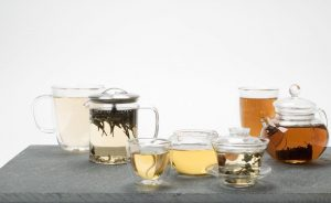 a selection of tea from camellia sinensis