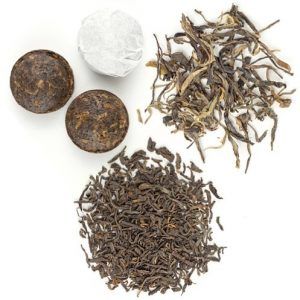 a picture showing types of pu-ehr tea