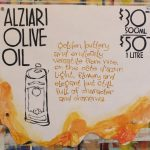 Hand Painted Poster - Alziari Olive Oil
