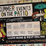 Hand Painted Poster - Summer Events On The Deli Patio