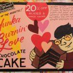 Hand Painted Poster - Zingerman's Bakehouse Hunka' Burnin' Love Chocolate Cake