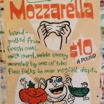 Hand Painted Poster - Zingerman's Deli Hand-Stretched Mozzarella