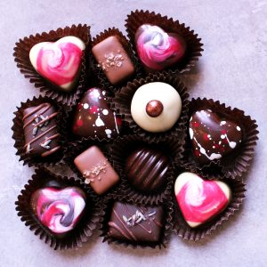 valentine's day truffle box