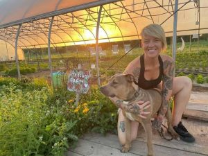 Tomato and Cheese / Picture of Tammie at Tamchop Farm